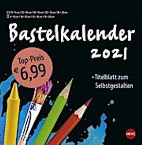 Bastelkalender 2021 groß schwarz