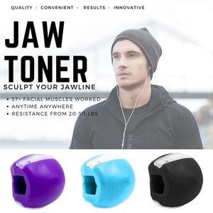 Jawline Fitness Ball-Jawlineme Exerciser - Zur Stärkung und Straffung Ihrer Gesichtsmuskeln - lila, blau, schwarz, 3-tlg