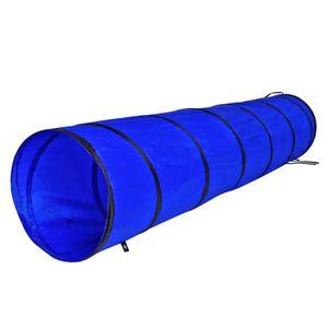 dibea Hundetunnel, Spieltunnel, Hundehöhle, Agilitytunnel blau, Größe S (200 x 40 cm)