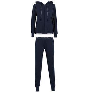 Emporio Armani Loungewear Homewear Anzug mit Kapuze in Blau & Schwarz Blau S