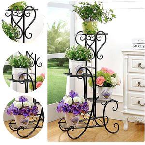 Blumenständer Blumenregal Pflanzentreppe Pflanzregal Gartenregal Dekor Metal