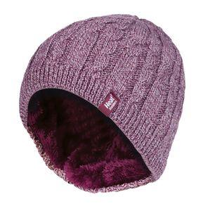 HEAT HOLDERS - Damen Outdoor Winter Warm Beanie Strickmütze mit Innen Fleece