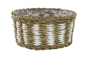 Seegras-Korb mit Einsatz ( E ) zweifarbig 1 Stück - L