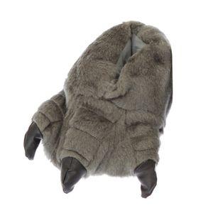 Kinder Hausschuhe Monster-Füße SL151 (EUR 30-31) (Grau)
