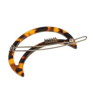 Mode Frauen Acryl Leopardenmuster Kreis Haarspange Haarspange Pin Haarnadeln Farbe Leopardenmuster Mond