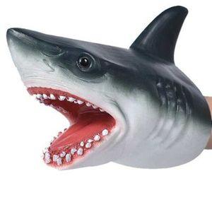 Hai Handpuppe Weichgummi Kinder Simulation Tiermodell Modell Spielzeug