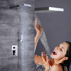 Unterputz Armatur Regendusche Duschsystem Regendusche Unterputz Duschsäule Handbrause Duscharmatur Edelstahl Duschset Kopfbrause Brausegarnitur