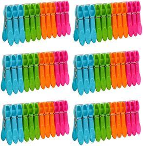 72er Pack Wäscheklammer Wäscheklammern Wäschetrocknen Starke Wäscheklammern für das Waschen von Windschutzmitteln im Innen- und Außenbereich