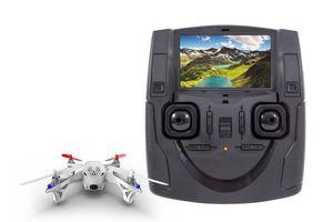 Hubsan X4 FPV Quadrocopter - RTF-Drohne mit Kamera, Akku, Ladegerät und Fernsteuerung mit integriertem Farbmonitor H107D