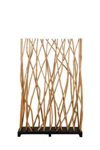 SIT Möbel Paravent | recyceltes Teak-Holz | B 100 x T 20 x H 150 cm | natur mit schwarz | 07997-03 | Serie ROMANTEAKA