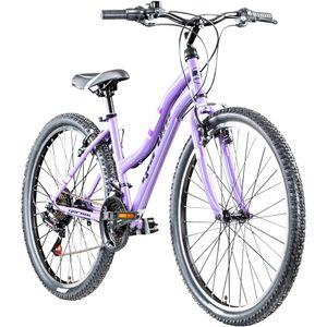 Geroni Swan Lady 26 Zoll Damenfahrrad Mädchen Fahrrad Hollandrad 26' MTB Mädchenfahrrad, Farbe:lila