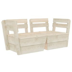 vidaXL Garten-Palettensofa 2-Sitzer Impregniertes Fichtenholz