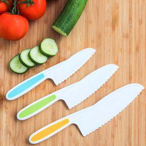 3 Stück / Set Messer für Kinder Nylon Küchenbackmesser Set: Kinder Kochmesser in 3 Größen und Farben, Kindermesser