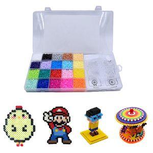 11000 Stück Bügelperlen Set mit Organizerbox (2,6 mm, 20 Farben)