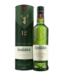Glenfiddich 12 Jahre Single Malt Scotch Whisky in Geschenkpackung | 40 % vol | 0,7 l