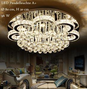 LED Pendelleuchte 6019-80 mit Fernbedienung Lichtfarbe Steuerbar. Kristall K9. A+,LED Wohnzimmerleuchte Kronleuchte Pendelleuchte Deckenlampe Deckenstrahler led Deckenleuchte Hängeleuchte Hängelampe LED lampe
