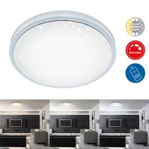 LED Deckenleuchte CCT dimmbar RGB Fernbedienung Ø38.5cm 18W Briloner Leuchten
