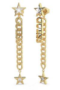 Guess JUBE70155JW Damen-Ohrringe Chain Logo & Stars Goldfarben