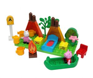 BIG Spielzeug Steckbausteine Bloxx Camping Set Peppa Pig 25 Teile 800057143