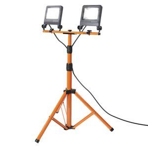 LEDVANCE WORKLIGHT 60 W LED Mobiler Strahler Kaltweiß 175 cm Aluminium  /  Stahl Dunkelgrau 2-Flammi