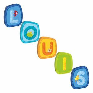 HABA Holzbuchstaben, Name Louis, Buchstaben, Türschild, Wand, Dekoration, Kinderzimmer, Kind, Baby