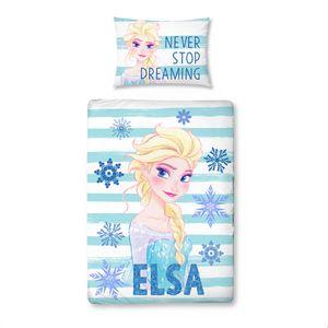 Eiskönigin Elsa Bettwäsche 40x60 + 100x135 cm · Disney Frozen Bettwäsche für Kinder / Mädchen - 100% Baumwolle in Biber / Flanell