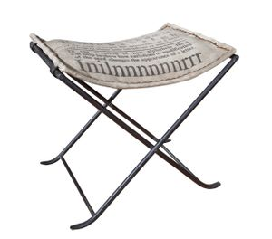 Sitzhocker Kalinga grau