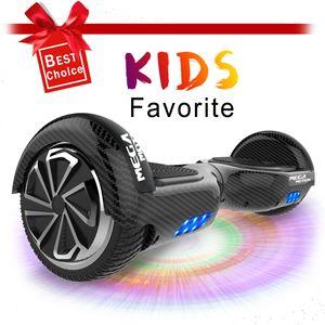 """Hoverboard 6.5"""" Selbstausgleichender Elektroroller Elektro Skateboard mit Bluetooth Lautsprecher LED-Leuchten für Kinder und Erwachsene"""