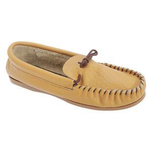 Mokkers Herren Gordon Leder Mokassins / Hausschuhe / Pantoffeln DF809 (44 EUR) (Hellbraun)