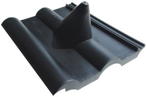 Dachziegel schwarz Frankfurter - Pfanne