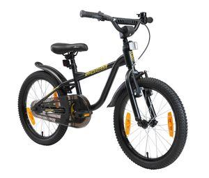 LÖWENRAD Kinder Fahrrad ab 5 Jahre   18 Zoll Rad   Schwarz