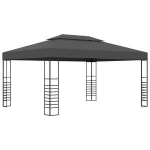 Pavillon 3×4 m Anthrazit Partyzelt Faltpavillon wasserabweisend & stabil
