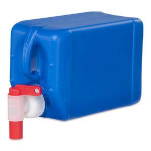 2,5 Liter Wasserkanister Kunststoffkanister Camping & Outdoor Farbe blau + Auslaufhahn (1x2,5knb + H.45)