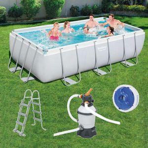 Bestway Power Steel Frame Rectangular Pool Set 56442 404 x 201 x100 cm