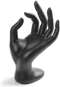Hand Schmuckständer, OK Dekohand Schmuckhalter Ringhalter für Schmuck Aufbewahrung (schwarzes Harz)