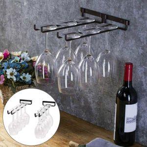 2 Stk Weinglashalter Eisen Weinglas Aufhänger Cocktail Champagnerflöten Weinregal für Küche, Bar, Pubs, Restaurants