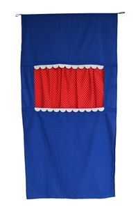 Puppentheater Freistehend, 75x150 cm, Blau Rot, 92032A