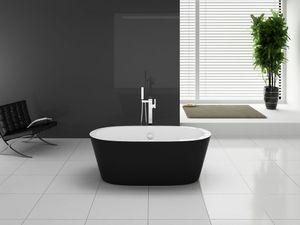 Badewanne PANO 170 x 80 x 58 cm, schwarz