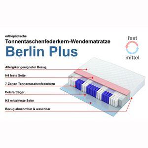 Taschenfederkernmatratze Berlin Plus, 180x200cm, Wendematratze mit H3 und H4