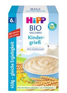 HiPPMilchbrei, Kindergrieß (ersetzt 3451-01), ab 6.Monat, DE-ÖKO-037 - VE 450g