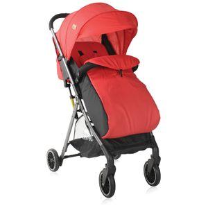 Lorelli Kinderwagen Felicia Fußabdeckung Sonnendach verstellbar faltbar Korb, Farbe:rot