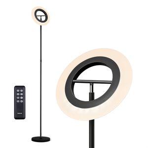 Tomons LED Stehlampe, RGB Stehleuchte Dimmbar, Helligkeit und RGB Farbtemperatur Stufenlos Dimmbar mit Fernbedienung, Touch Deckenfluter Farbwechsel für Wohnzimmer, Schlafzimmer, Büro, Bar