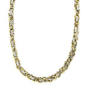 6 mm Königskette Armband Herrenkette Männer Kette Halskette, 40 cm Silber / Gold Edelstahl Ketten