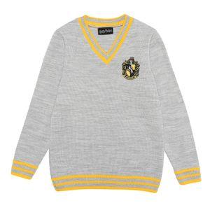 Harry Potter - Hufflepuff House Pullover für Jungen PG1035 (116) (Grau)