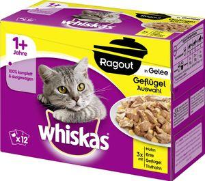 Whiskas 1+ Ragout in Gelee Geflügelauswahl (12 x 85 g)
