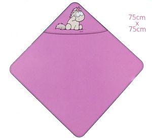 NICI Badetuch mit Kapuze 75x75cm Bade-Poncho 100% Baumwolle für Babys und Kleinkinder ab 0+ Monaten Theodor & Friends