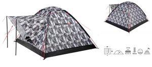 High Peak biber-Kuppelzelt 200 x 180 x 120 cm schwarz/weiß