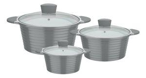 GSW Kochtopf-Set Bolero 6-tlg., 459686, Aluminium, ca. 1,5 L / ca. 2,8 L / ca. 4,4 L