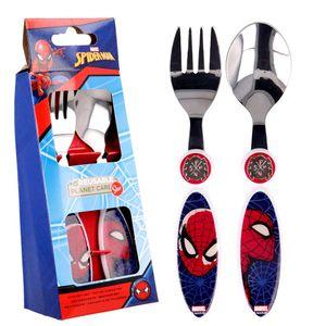 Besteck-Set Full Web   Marvel Spiderman   2-teilig   Kinder Gabel und Löffel