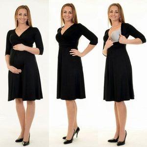 3in1 Umstandskleid Stillkleid Kleid D25 Größe 36/38 in Schwarz